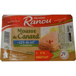 Monique Ranou Mousseline de canard recette allégée en sel la barquette de 180g
