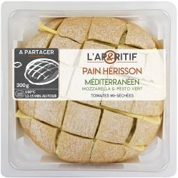 Pain Hérisson méditerranéen mozzarella pesto vert to...
