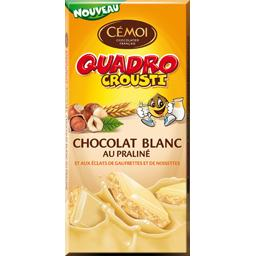 tablette quadro crousti chocolat blanc