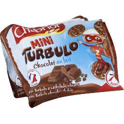 Mini turbulo, biscuits nappés de chocolat au lait