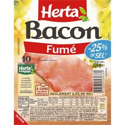 Bacon fumé réduit en sel