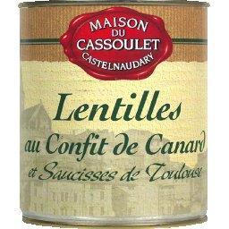 Lentilles au confit de canard et saucisses de Toulouse