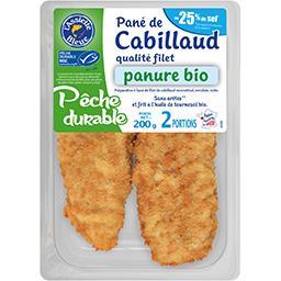 L'Assiette Bleue Pané de cabillaud panure BIO réduit en sel la barquette de 2 portions - 200 g