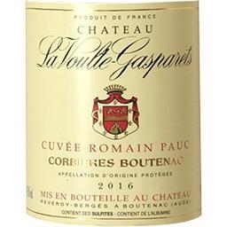 Corbières Boutenac Château La Voulte Gasparets - Cuvée Romain Pauc vin Rouge 2016