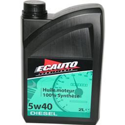 Huile de moteur 100% synthèse 5w40 diesel