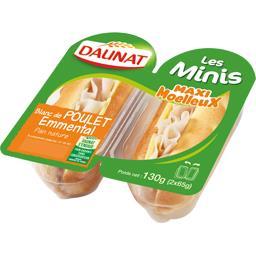 Les Minis Sandwichs blanc de poulet emmental pain na...