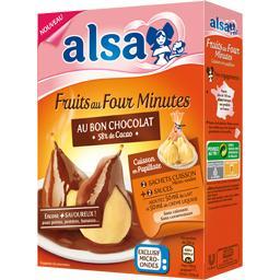 Préparation pour fruits au four chocolat