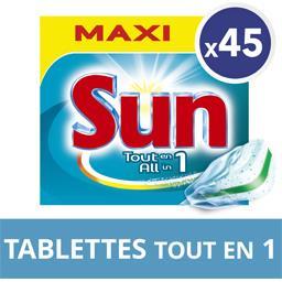 Tout en 1 - Tablettes lave-vaisselle double action