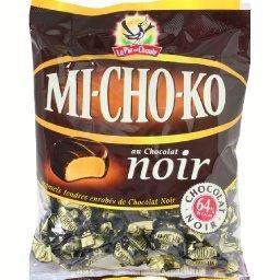 Caramels tendres Mi-Cho-Ko enrobés de chocolat noir