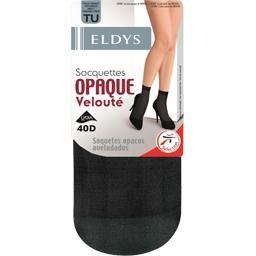 Socquettes opaques noir tu