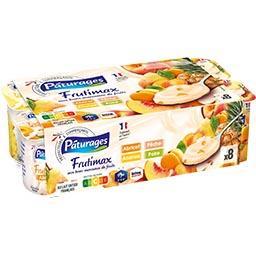 Frutimax - Yaourt brassé sucré abricot pêche/ananas ...