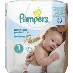 Couches new baby sensitive taille 1 (nouveau-né) 2-5 kg