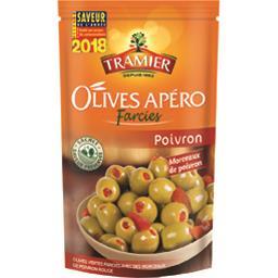 Olives apéro farcies poivron