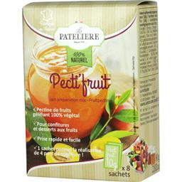 LA PATELIERE Pecti'Fruits 8 Sachets 80 g - Lot de 3