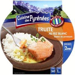Truite au riz blanc, sauce au Jurançon