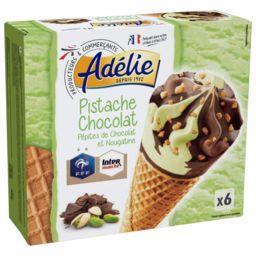 Cônes pistache chocolat