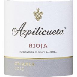 Espagne Rioja Crianza Azpilicueta vin Rouge 2015