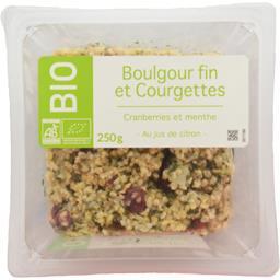 Salade boulgour fin et courgettes, Cranberries et me...