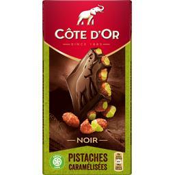 Chocolat noir Bloc pistaches caramélisées