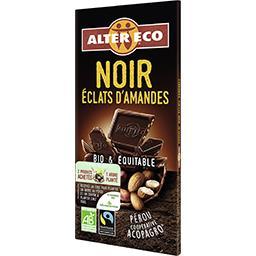 Alter Eco Chocolat noir amandes entières BIO