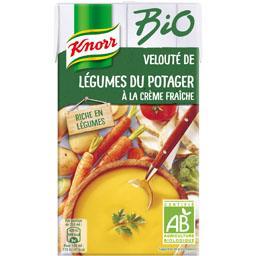 Velouté de légumes du potager à la crème fraîche BIO