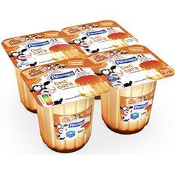Dessert lacté nappage caramel