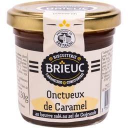 Biscuiterie Brieuc Onctueux de caramel au beurre salé au sel de Guérand... le pot de 140 g