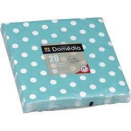 Serviettes 3 plis, pliage 1/4 33x33 cm, turquoise Do...