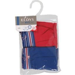 Boxers marine/rouge pocket 6/8 ans