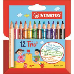 Crayons de couleur Trio larges