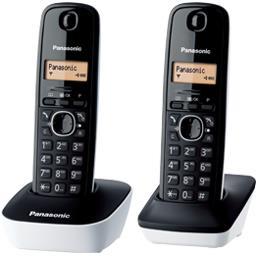 Téléphone sans fil Duo base blanche