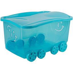 Bac de rangement Fancy Roller Smile Clear bleu