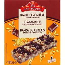 Barre céréalière aux pépites de chocolat et à la cac...