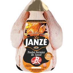 Poulet fermier blanc de Janze prêt à cuire