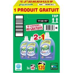 Persil Lessive au savon de Marseille l'Essentiel les 2 flacons de 2 l