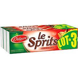 Delacre Biscuits Le Sprits chocolat noir les 3 paquets de 200 g