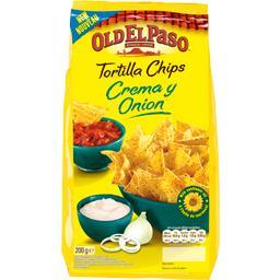 Tortilla chips Crema y Onion