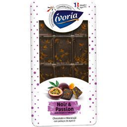 Chocolat noir & passion avec éclats à l'abricot