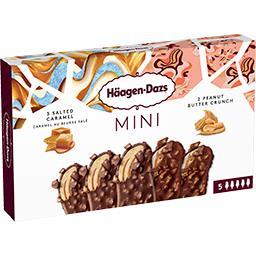 Mini bâtonnets glace caramel beurre salé/beurre cacahuètes
