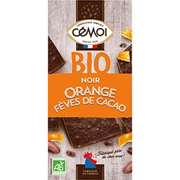 Chocolat noir orange fèves de cacao BIO