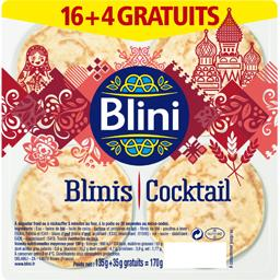 16 blinis cocktails +4 gratuits