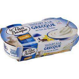 Yaourt à la grecque au lait de brebis vanille