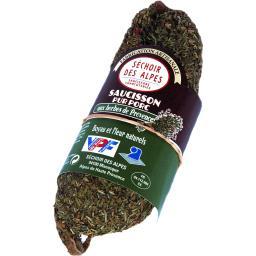 Séchoir des Alpes Saucisson pur porc aux herbes de Provence le saucisson de 180 g