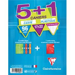 Cahiers piqure carte+polypro 170x220,  96 pages seye...