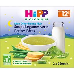 Mon Dîner Bonne Nuit - Soupe légumes verts petites pâtes BIO, dès 12 mois