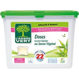 Doses de lessive liquide au savon végétal