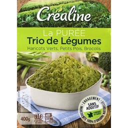 La Purée Trio de légumes haricots verts/petits pois/...