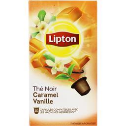 Capsules de thé noir caramel vanille