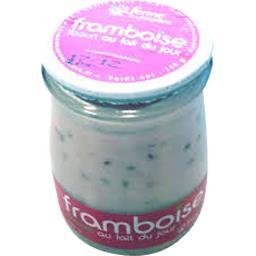 Sélectionné par votre magasin Yaourt framboise au lait du jour framboise le pot de 180 g
