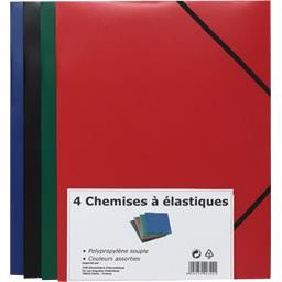 Chemises élastique en polypropylene couleurs assorties